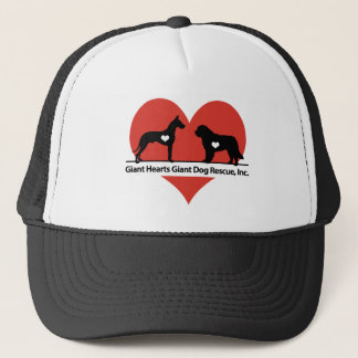Giant Hearts Giant Dog Rescue Logo Trucker Hat