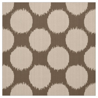 Giant Ikat Dots, beige and dark taupe tan Fabric