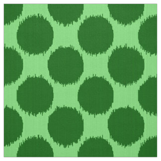 Giant Ikat Dots, lime and emerald green Fabric