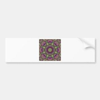 Giant Ironweed, Wildflower Kaleidoscope Bumper Sticker