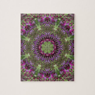 Giant Ironweed, Wildflower Kaleidoscope Jigsaw Puzzle