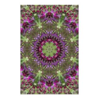 Giant Ironweed, Wildflower Kaleidoscope Stationery