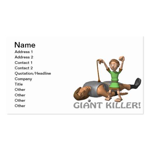 Giant Killer Business Card Templates