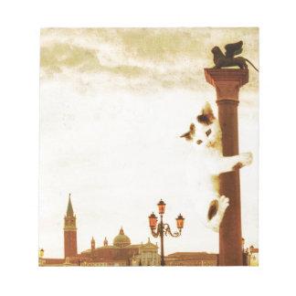 Giant Kitten in Venice Notepad
