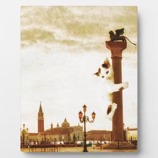 Giant Kitten in Venice Plaque