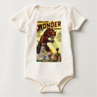 giant Lizard Monster Baby Bodysuit