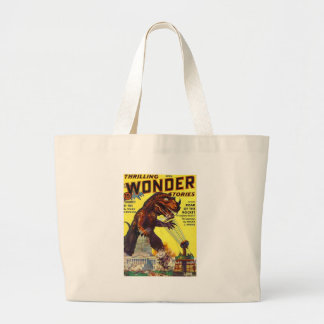 giant Lizard Monster Large Tote Bag