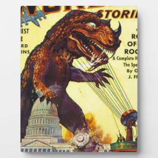 giant Lizard Monster Photo Plaque