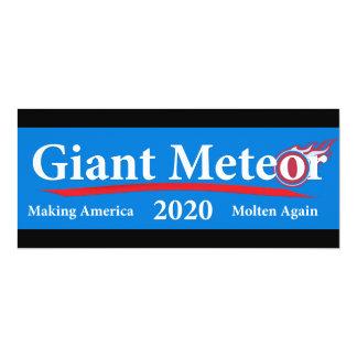 Giant Meteor 2020 Making America Molten Again 10 Cm X 24 Cm Invitation Card