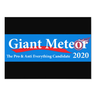 Giant Meteor 2020 Pro & Anti Everything Candidate Card