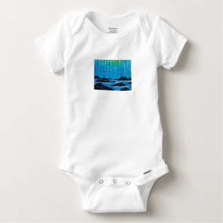 Giant misty forest by river baby onesie