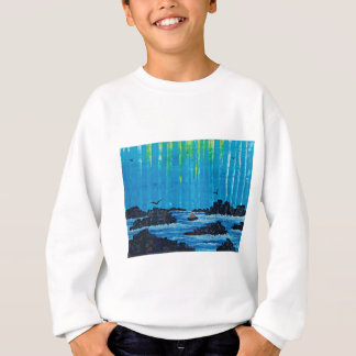 Giant misty forest by river sweatshirt
