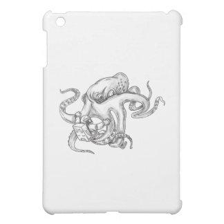 Giant Octopus Fighting Astronaut Tattoo iPad Mini Cover