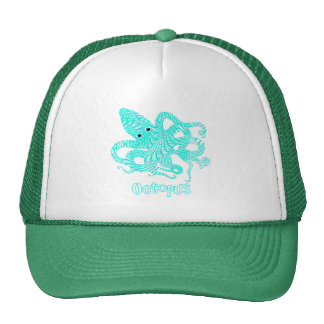 Giant Octopus Nautical Creature Graphic Cap