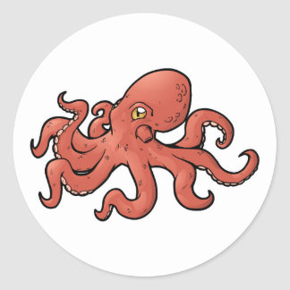 Giant Pacific Octopus Classic Round Sticker
