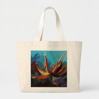 Giant Pacific Octopus Jumbo Tote Bag