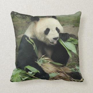 Giant Panda and Baby Panda Throw Pillow