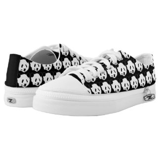 Giant Panda Bear Face Low Tops