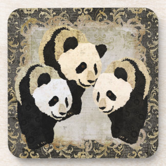 Giant Panda Bears Cork Coaster