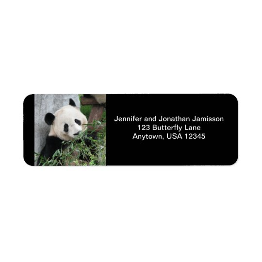 Giant Panda, Black Return Address Labels