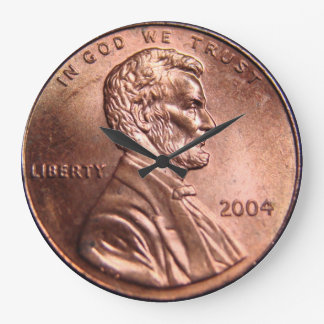 Giant penny coin clock