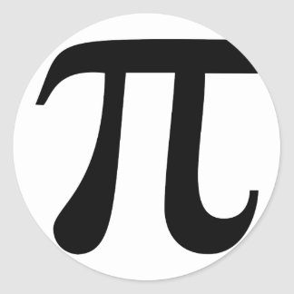 "Giant ""Pi"" Symbol Round Sticker"