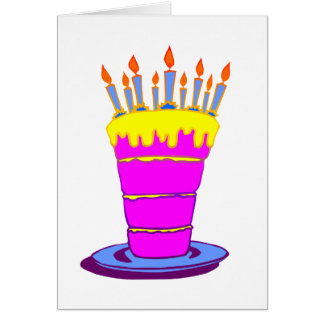 Giant Pink Birthday Cake Greeting Card