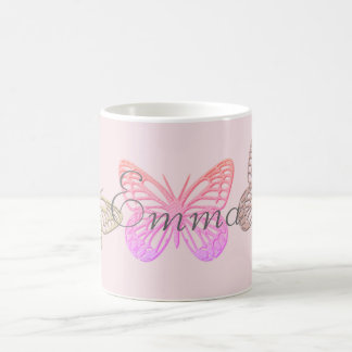 Giant Pink Butterflies  Add Name Mug