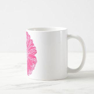 Giant Pink Gerbera Daisy Basic White Mug