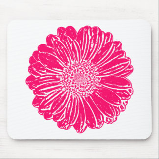 Giant Pink Gerbera Daisy Mouse Pad