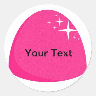 Giant Pink Gumdrop Sticker Candy Buffet Label