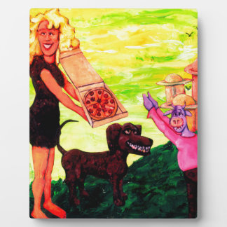 Giant, Pizza, Dog and Cow Plaque