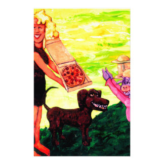 Giant, Pizza, Dog and Cow Stationery