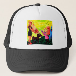 Giant, Pizza, Dog and Cow Trucker Hat