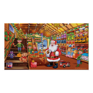 Giant poster, Santa's Workshop christmas fun magic Poster