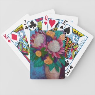 Giant Proteas and Orange Roses Bicycle Playing Cards