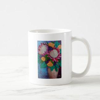Giant Proteas and Orange Roses Coffee Mug