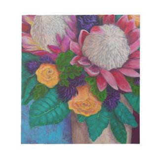 Giant Proteas and Orange Roses Notepad