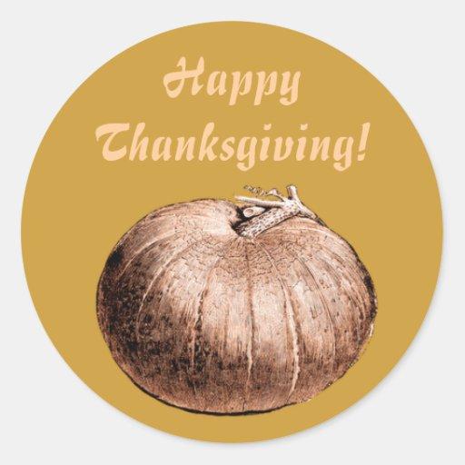 Giant Pumpkin Fall Halloween Thanksgiving Sticker