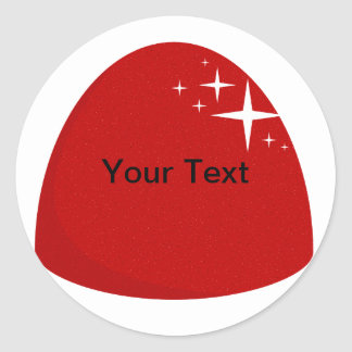 Giant Red Gumdrop Sticker Candy Buffet Label