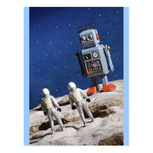 Giant Robot on the Moon Postcard