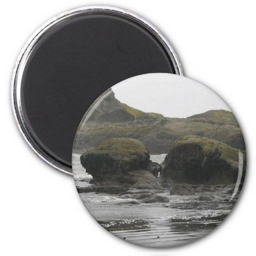 Giant Rocks on Shore Fridge Magnets