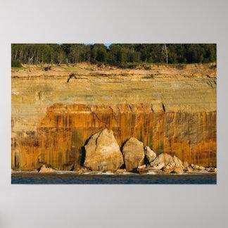 Giant rocks, Pictured Rocks Nat'l Lakeshore, MI Poster