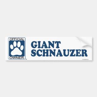 Giant Schnauzer Blue Bumper Sticker