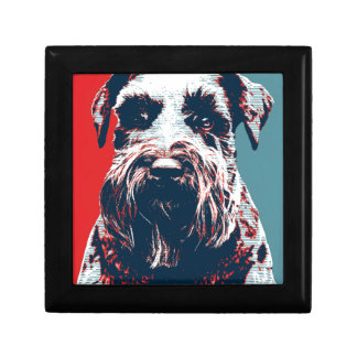 Giant Schnauzer by Hope Dogs Small Square Gift Box