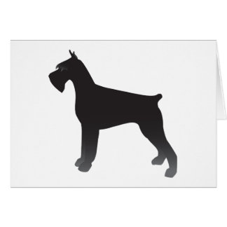 Giant Schnauzer Dog Breed Illustration Silhouette Card