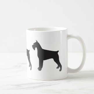 Giant Schnauzer Dog Breed Illustration Silhouette Coffee Mug