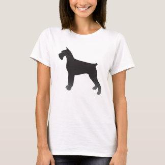 Giant Schnauzer Dog Breed Illustration Silhouette T-Shirt