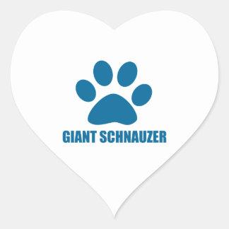 GIANT SCHNAUZER DOG DESIGNS HEART STICKER