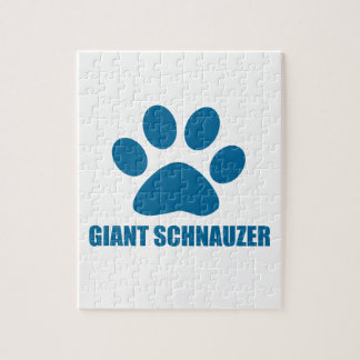 GIANT SCHNAUZER DOG DESIGNS JIGSAW PUZZLE